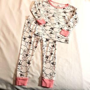 EUC Carter's 24m sheep pajamas